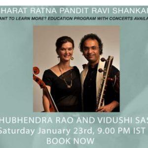 "Unlock the Music"" with Pandit Shubhendra Rao and Vidushi Saskia Rao accompanied by Pandit Ramkumar Mishra on the Tabla!"