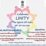 Embassy of India in Lisbon & ISHA Artes invites You to join Celebrations of UNITY Spirit of India Starting From 25th To 31th Oct 2021